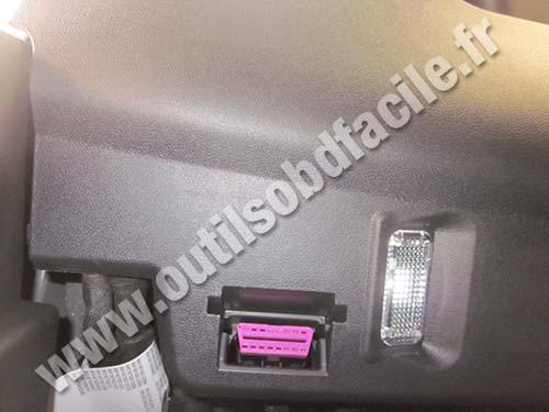 Prise OBD2 dans les Audi A1 (8X) (2010 - ...) - Outils OBD ...