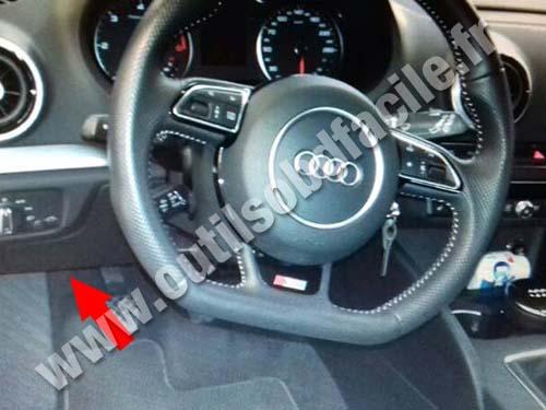 Prise Obd2 Dans Les Audi A3 8v 2012 Outils Obd Facile