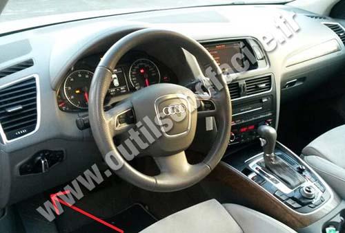 Prise Obd2 Dans Les Audi Q5 8r 2008 Outils Obd