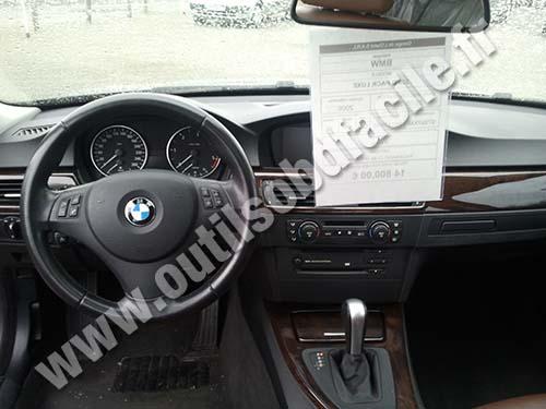 Prise OBD2 dans les BMW Serie 3 E90 (2004 - 2011) - Outils