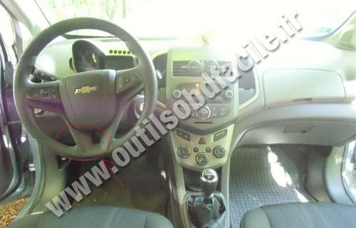 Prise Obd2 Dans Les Chevrolet Aveo Ii  2011 -