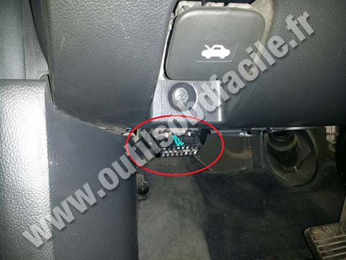 Chevrolet Captiva connecteur OBD2