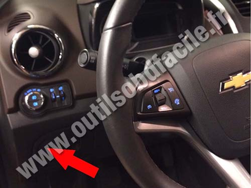 Prise OBD2 dans les Chevrolet Trax (2013 - ...) - Outils ...