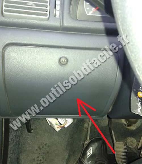 Prise OBD2 dans les Fiat Uno (2010 - ...) - Outils OBD Facile