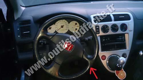 Prise Obd2 Dans Les Honda Civic 7 2001 2005 Outils