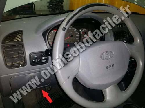 Prise Obd2 Dans Les Hyundai Accent 1995 1999 Outils