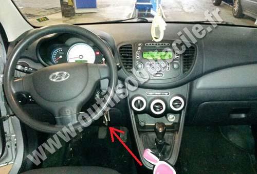 Prise Obd2 Dans Les Hyundai I10 2007 2013 Outils Obd