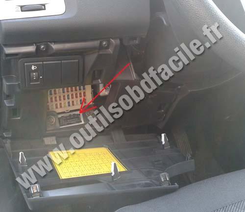 Prise Obd2 Dans Les Hyundai I20  2008 - 2014