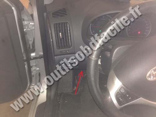 Prise Obd2 Dans Les Hyundai I30 2007 2012 Outils Obd