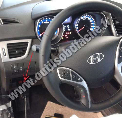 Prise OBD2 dans les Hyundai I30 (2012 - ) - Outils OBD Facile