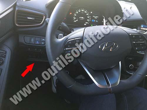 Prise OBD2 dans les Hyundai Ioniq (2016 - ...) - Outils ...