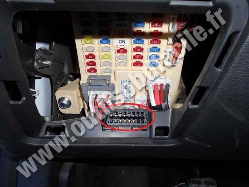 2016 Hyundai Santa Fe >> Prise OBD2 pour les Hyundai Veloster (2011 - ...)