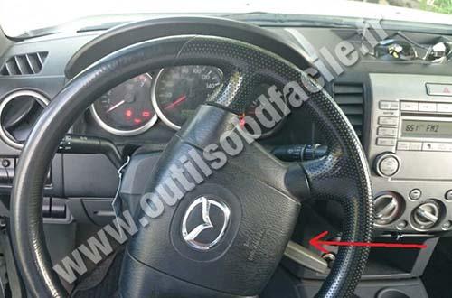 Prise Obd2 Dans Les Mazda Bt 50 2006 2011 Outils Obd