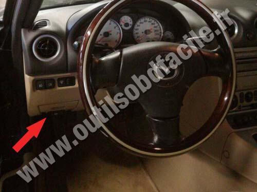Prise Obd2 Dans Les Mazda Mx 5 Nb 1998 2005 Outils Obd Facile