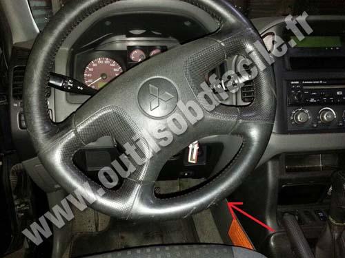 Prise Obd2 Dans Les Mitsubishi Pajero 1999 2006 Outils Obd Facile