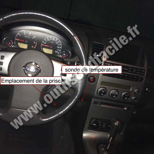 Prise OBD2 dans les Nissan Pathfiner R51 (2005 - 2014 ...