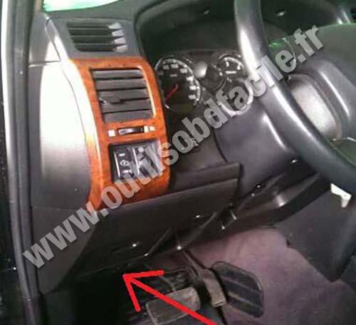 Prise OBD2 dans les Nissan Patrol Y61 Phase 3 (2005 - 2009 ...