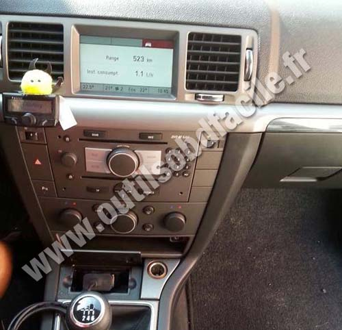 Opel Vectra C console centrale