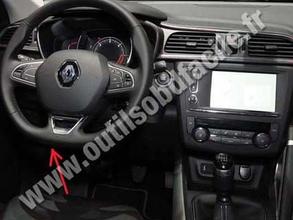 prise obd2 dans les renault kadjar 2015 outils obd facile. Black Bedroom Furniture Sets. Home Design Ideas