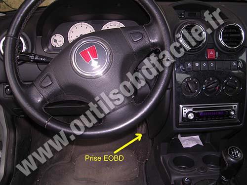 Prise Obd2 Dans Les Rover 25 1999 2005 Outils Obd Facile