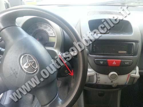 Prise Obd2 Dans Les Toyota Aygo 2005 2014 Outils Obd