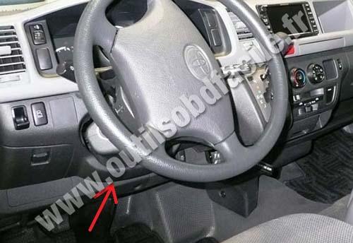 Prise Obd2 Dans Les Toyota Hiace 2005 Outils Obd