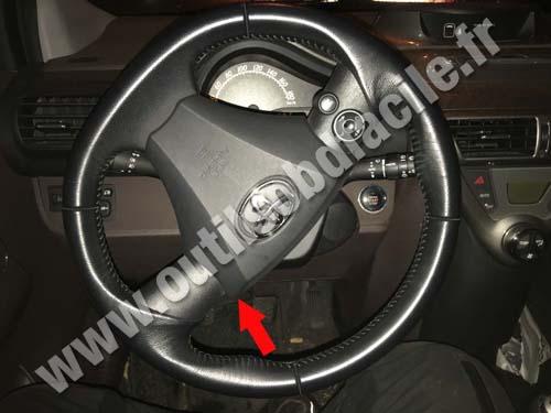 Prise OBD2 dans les Toyota IQ (2008 - ...) - Outils OBD Facile
